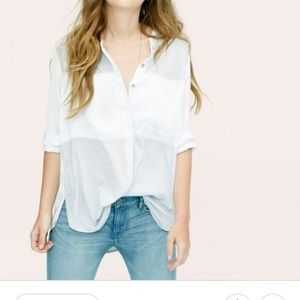 Lou & Grey Color Block Panel Button Down Shirt